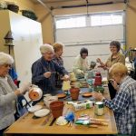 Crafts Group Creating District Luncheon Centerpieces, 2/2018